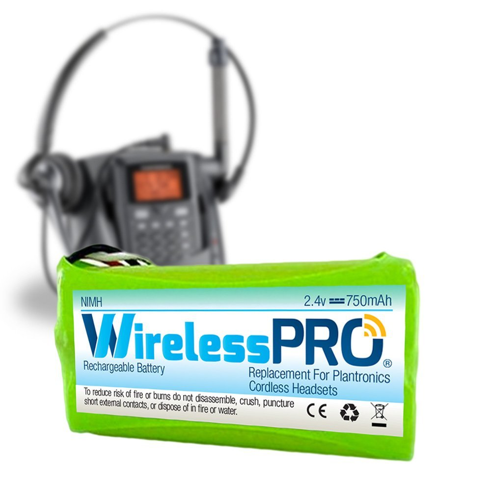 WirelessPro Replacement Battery Rechargeable for Plantronics Headset Phone CT14