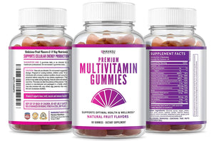 Havasu Nutrition's Premium Multivitamin Gummies for Men and Women: Vitamin D3, Gluten Free, 60 Count