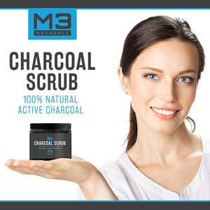 Premium Activated Charcoal Scrub 12 OZ - All Natural Pore Minimizer - Reduces Wrinkles, Blackheads & Acne Scars, Anti Cellulite Treatment - Body & Face Cleanser - Face Scrub & Body Scrub