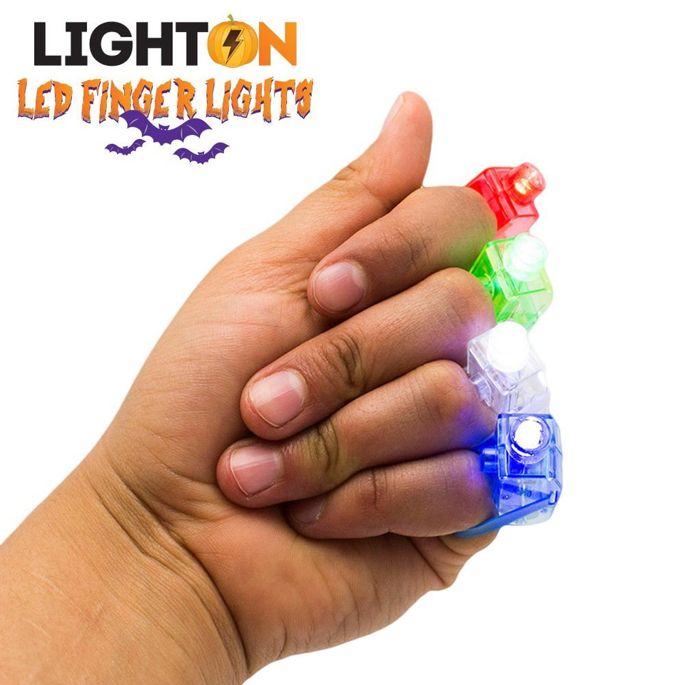 LED Finger Lights by Light On Party Favors, Events or Just For Fun!