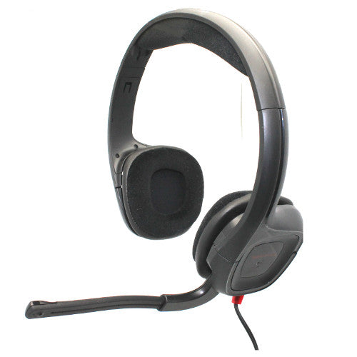 Plantronics GameCom 307 Gaming Headset w/ Mic & Gold Plated 3.5mm Plugs for PC