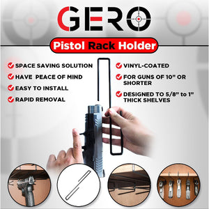 Gero Gun 5 Hanger Safe Storage Pistol Rack Holder Holster Organizer Display Hook