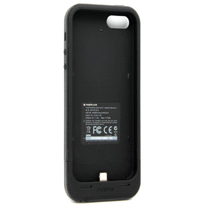 Mophie Juice Pack Plus Rechargeable External Battery Case For iPhone 5/ 5S Black