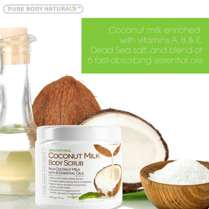 Pure Body Naturals Coconut Milk Body Scrub 12oz