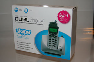 NEW RTX USB Cordless Dualphone VoIP Analog Phone Skype