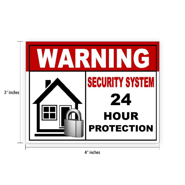 6 Warning Video Surveillance Security Alarm System Sticker Sign Indoor/Outdoor