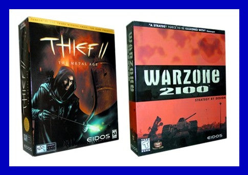 NEW WarZone 2100 and Thief II Eidos PC Game Lot Bundle