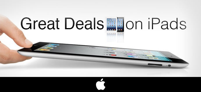 Best deals on iPads!