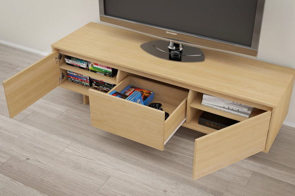 Nexera 107205 Rustik 60 Inch Tv Stand Natural Maple Simply Stand