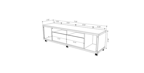 Cabrini Tv Stand And Floating Wall Tv Panel With Led Lights 18