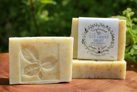 Tanglewood Organic Soap - 'Luv a Rainy Night Relaxing Spearmint