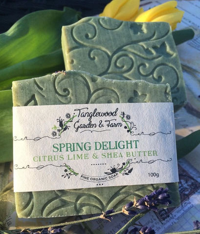 Tanglewood Organic Soap - Spring Delight (Citrus, Lime and Shea Butter)