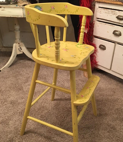 Vintage Yellow Child's Chair