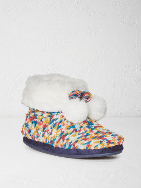 White Stuff Joan Spacey Faux Fur Top Bootie - Multi - Size 6 (UK Small)