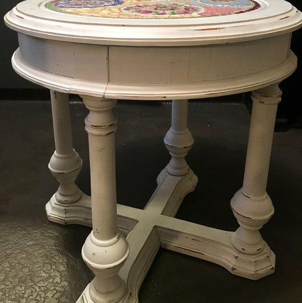 Upcycled Mosaic Side Table