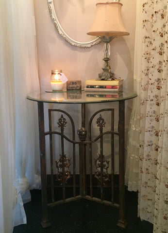 Glass & Wrought Iron Table