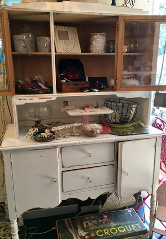 Vintage White Shabby Chic Cabinet