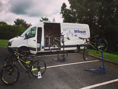 Mobile Bike Repair. Fleet of a Sutton Coldfield schools bikes for an annual service