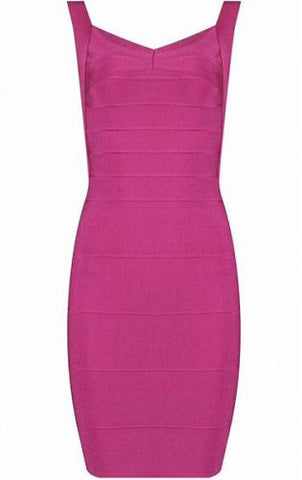 Abigail Pink Mini Bandage Dress