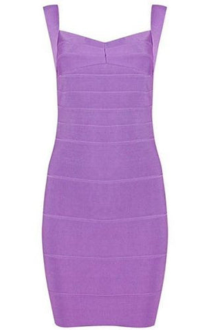 Abigail Purple Mini Bandage Dress
