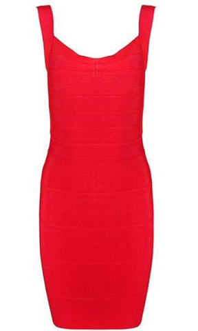 Abigail Red Mini Bandage Dress