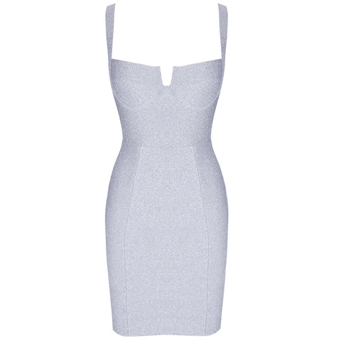 Adaline Silver Sleeveless Mini Dress