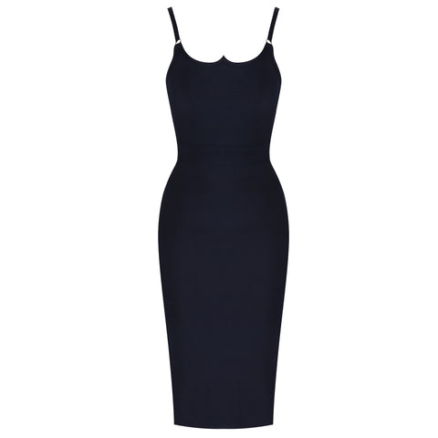Agnes Black Sleeveless Bandage Dress