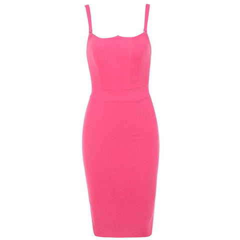 Agnes Rose Pink Sleeveless Bandage Dress