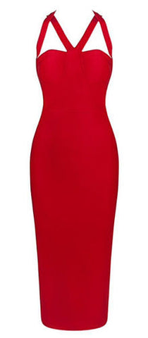 Alivia Red Bandage Dress