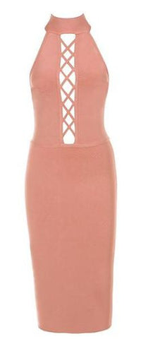 Amaris Lace Up Bandage Dress