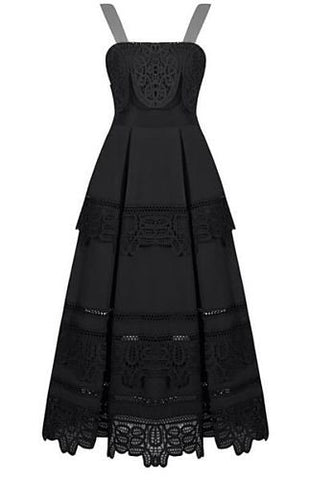 Anahi Black Lace Dress