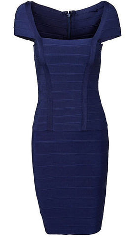 Briann Navy Bandage Dress
