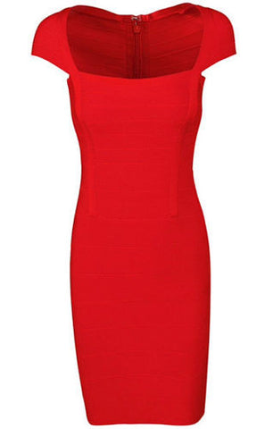 Briann Red Bandage Dress