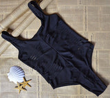 Brionna Black Cutout Swimsuit