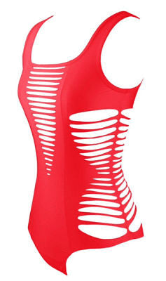 Brionna Red Cutout Swimsuit