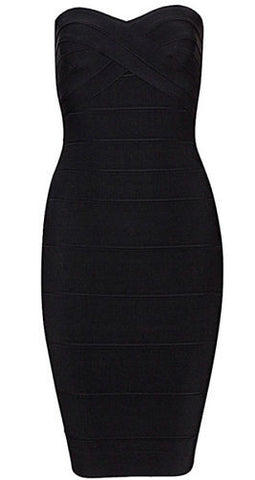 Cassy Mini Black Bandage Dress