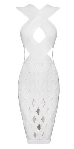 Cici White Bandage Dress
