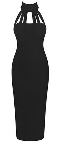 Dayana Black Bandage Dress