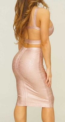 Elida Midi Two Piece Bandage Dress