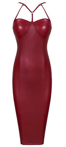 Estrella Burgundy Dress