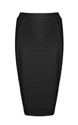 Ethel Black Knee Length Bandage Skirt