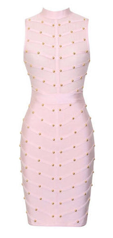 Felice Studded Mesh Bandage Dress