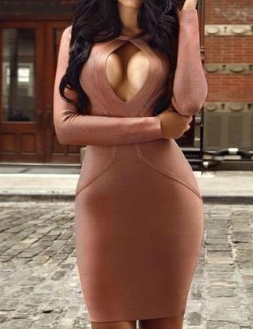 Halley Mini Long Sleeve Bandage Dress