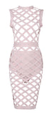 Willow Pearl Caged Bandage Dress