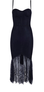 Sasha Black Lace  Bandage Dress