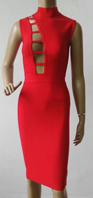 Jazlyn Red Bandage Dress