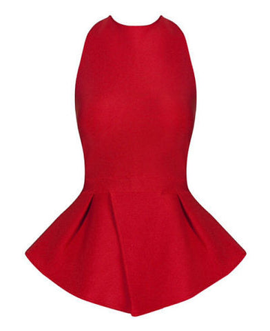 Jillian Red Strap Back Top
