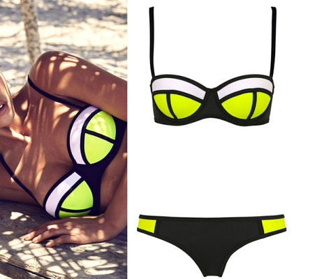 Jinni Black and Yellow Bikini