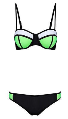 Jinni Green and Black Bikini