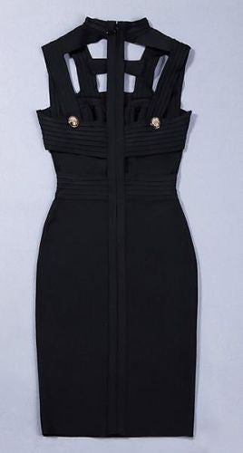 Kiara Black Cutout Bandage Dress